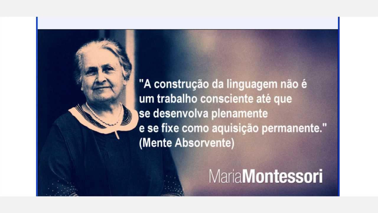 Desenvolvimento da Linguagem - 0 a 2 anos - Maria Montessori