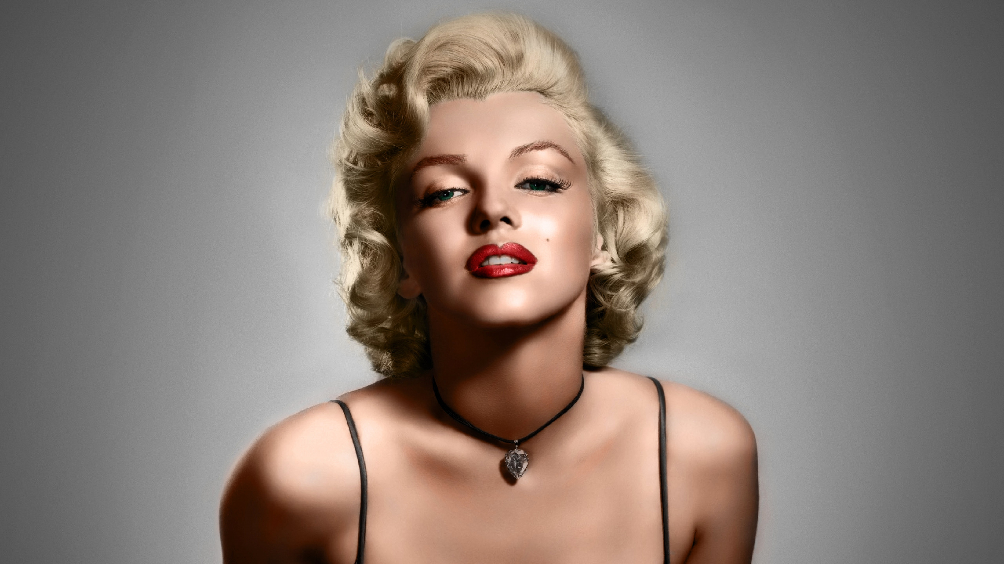 3840x2160 Wallpaper norma jeane mortenson, marilyn monroe, actress, singer, blonde, eyes