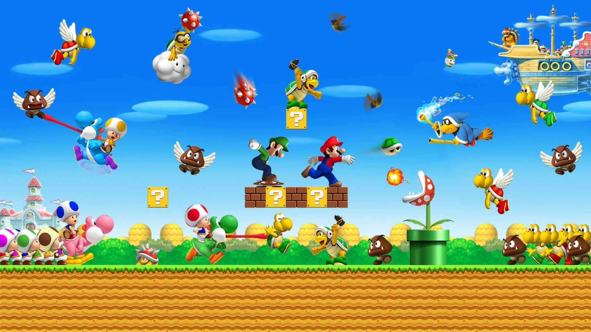 Mario Bros Background