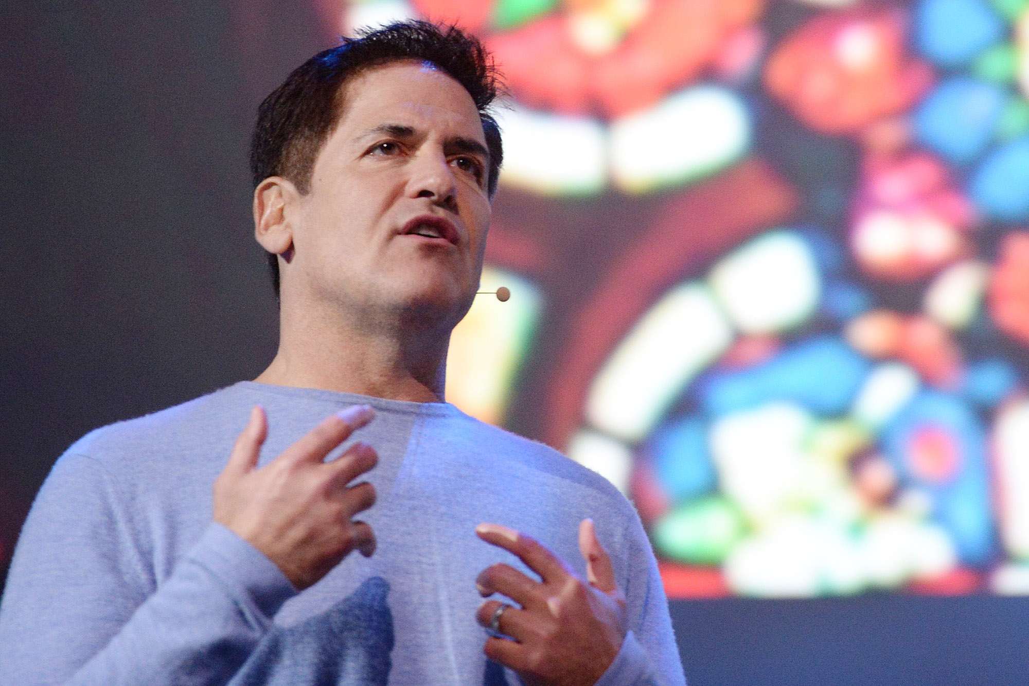 Entrepreneur and Dallas Mavericks owner Mark Cuban speaks at one of Samsung's CES 2014 press events. Photo: Getty Images