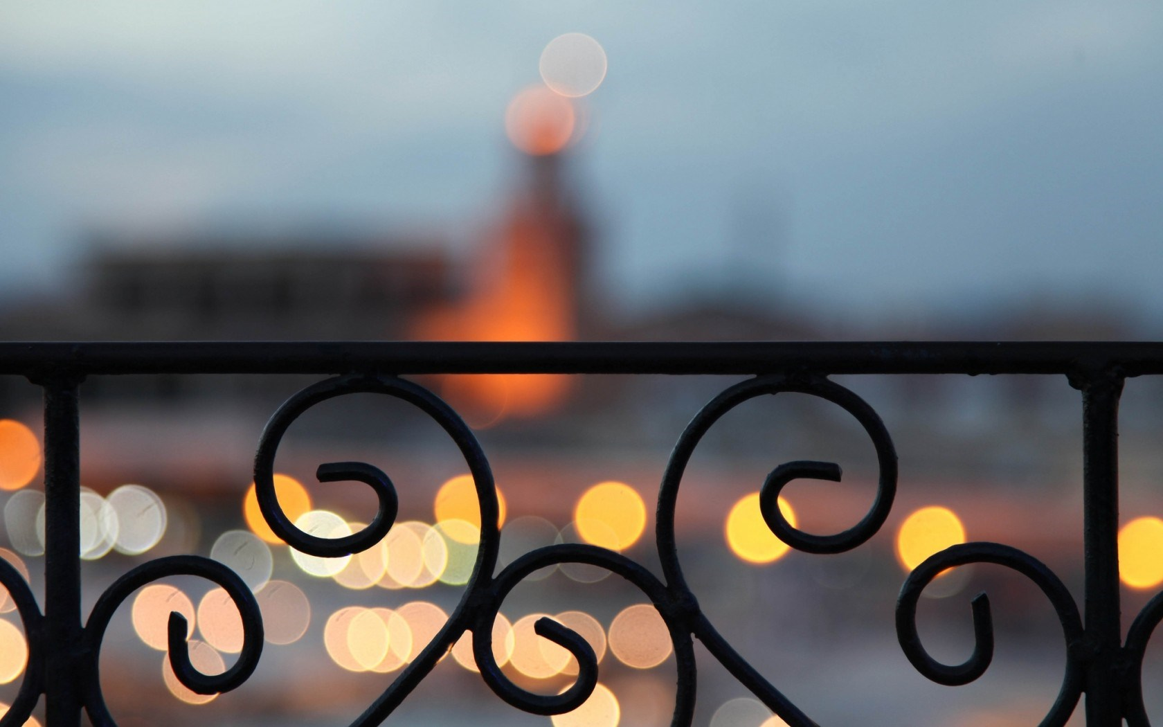 Marrakech Morocco City Bokeh Light Balcony