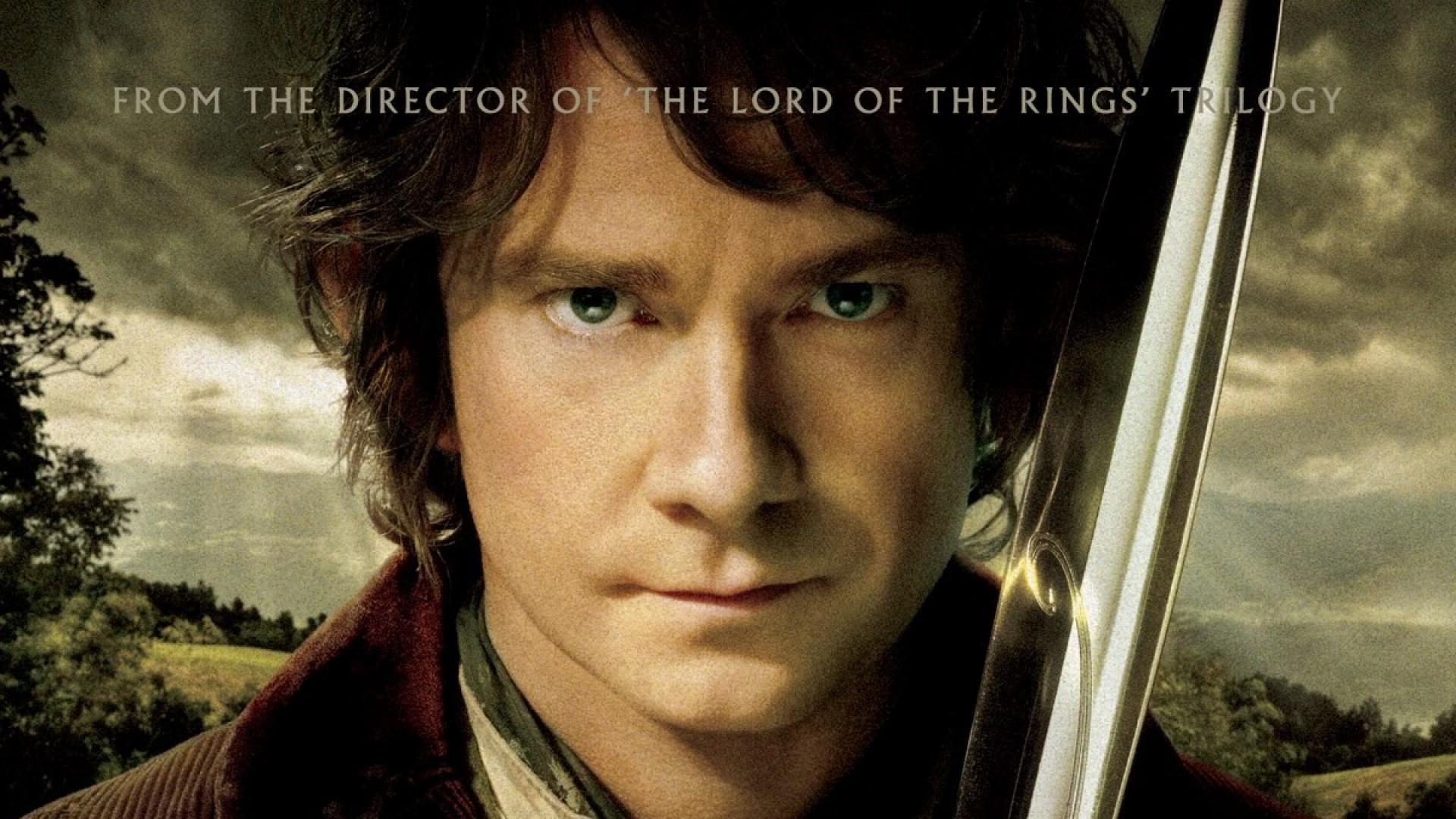The hobbit movie posters martin freeman swords wallpaper