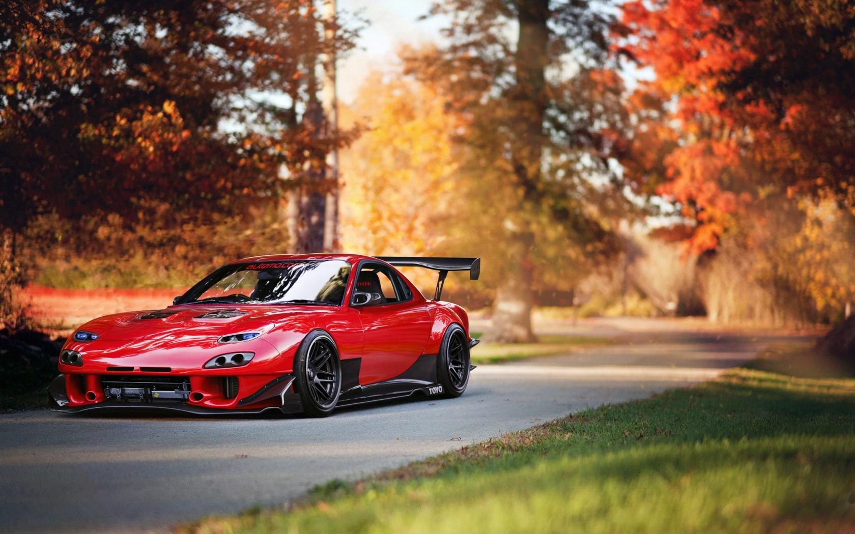 Mazda RX-7 Car Red Tuning