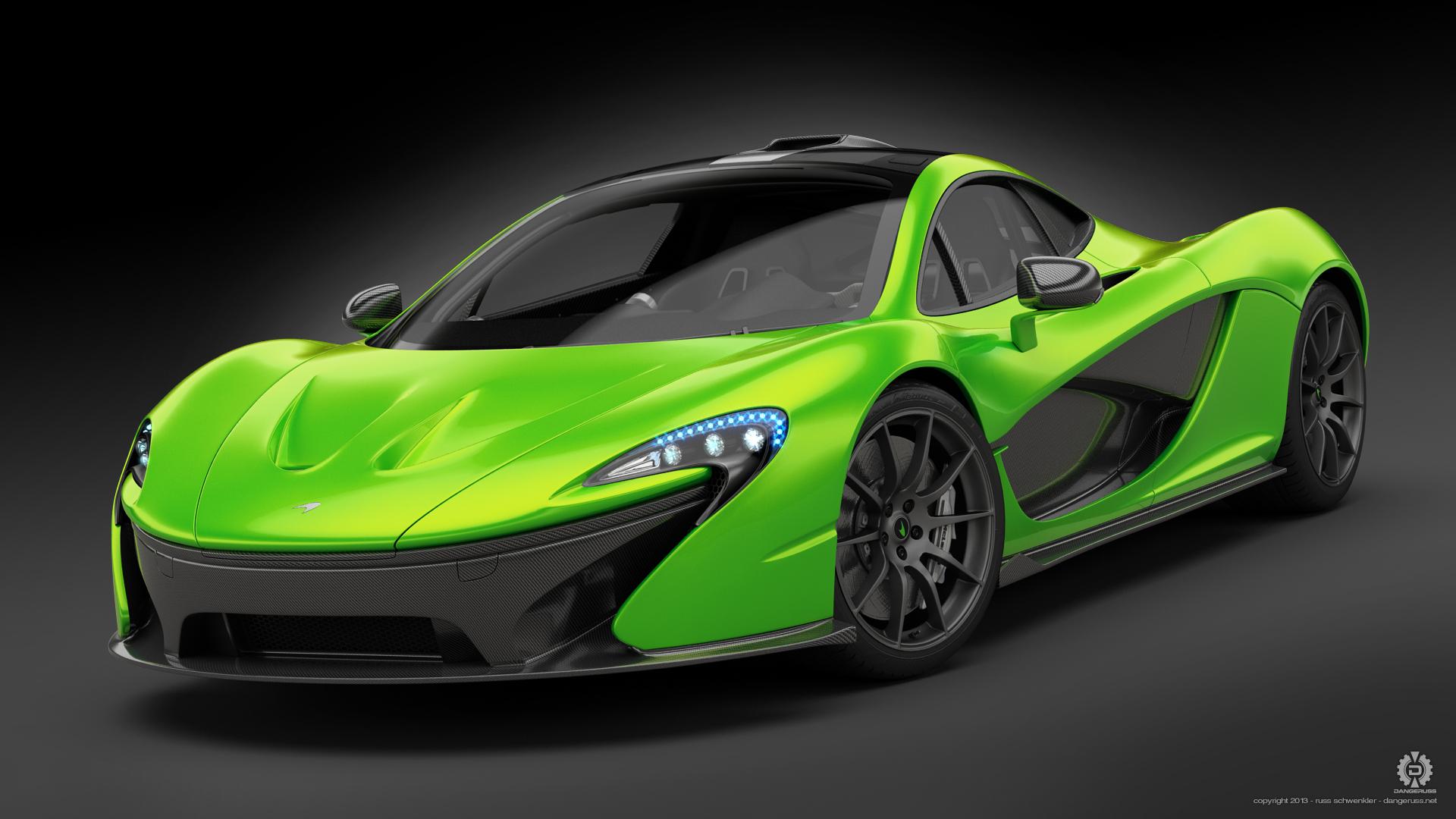 Green Mclaren P1 concept by dangeruss