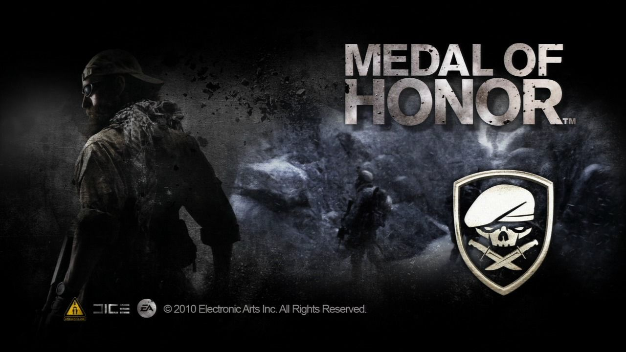 Medal of Honor PlayStation 3 Splash screen with dynamic background image.