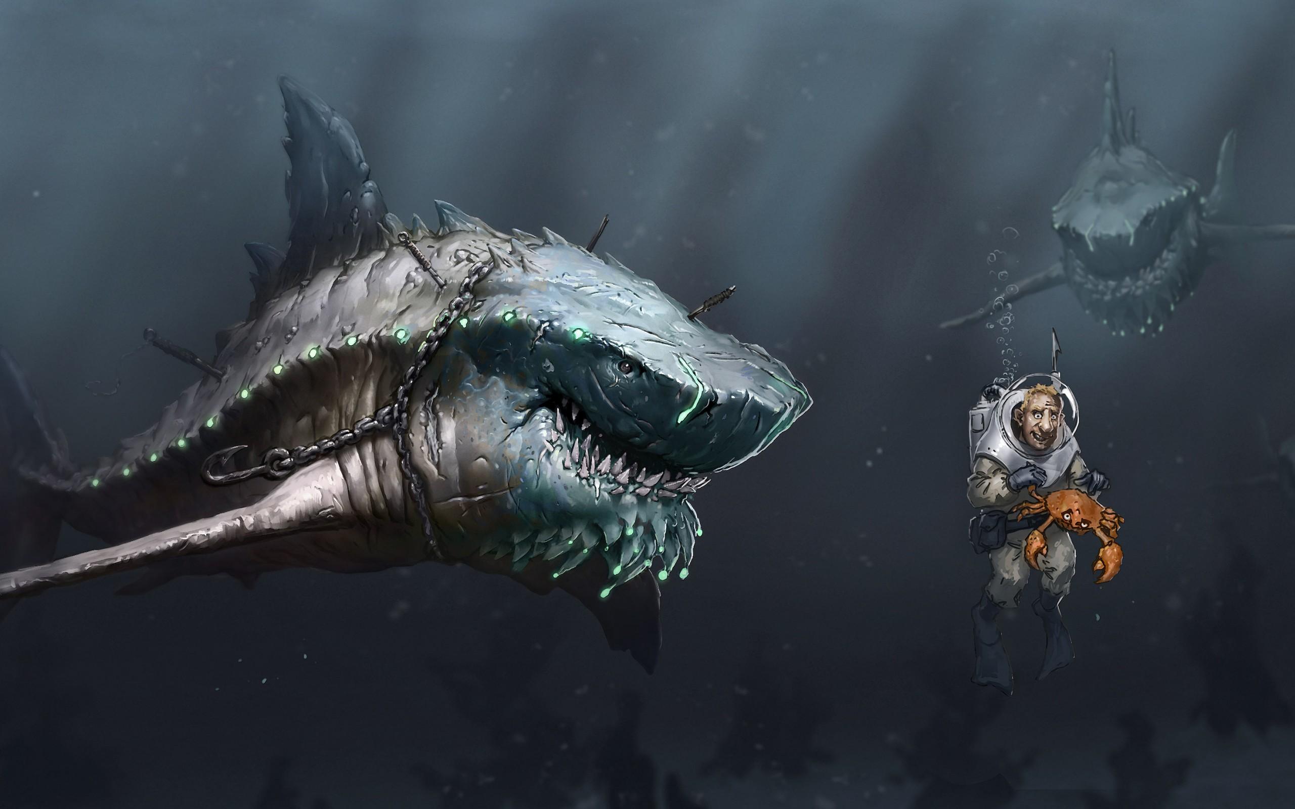 Megalodon Shark 5 HD Screensavers