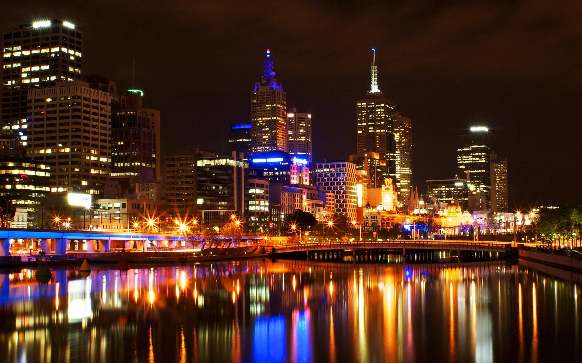 Melbourne city night