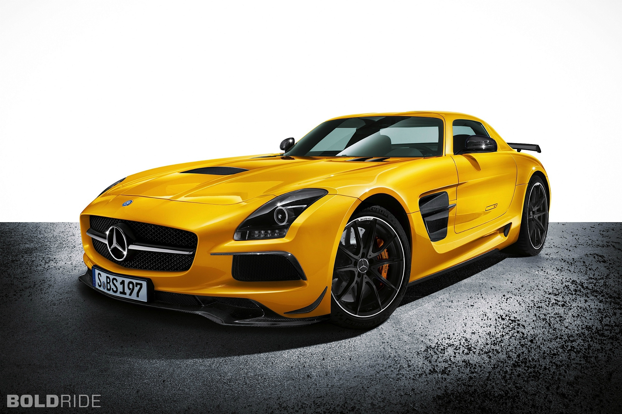 Mercedes-Benz SLS Black Series Rear Car