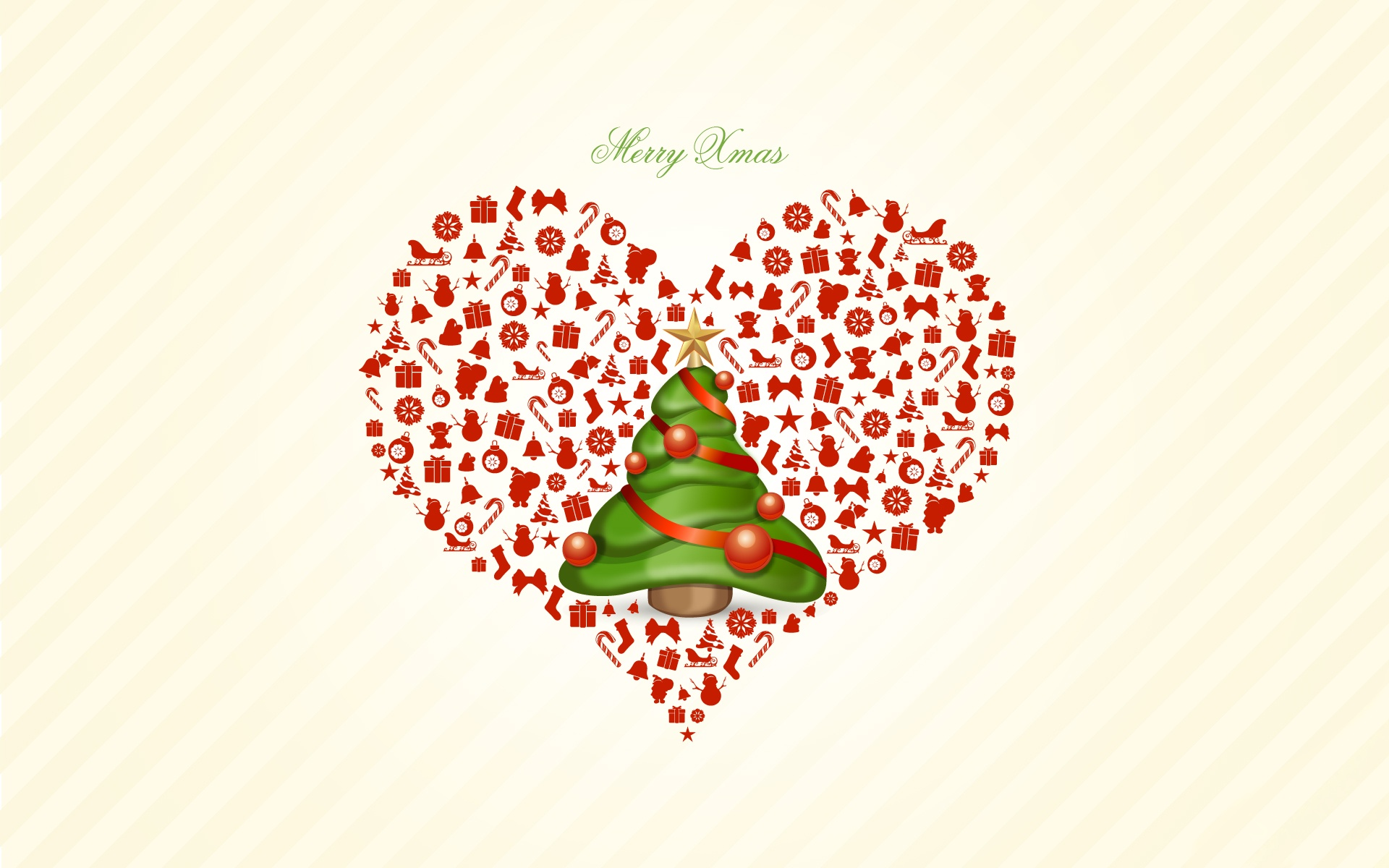 Xmas Love Wallpapers : Merry christmas Heart Love wallpaper 1920x1200 #26534