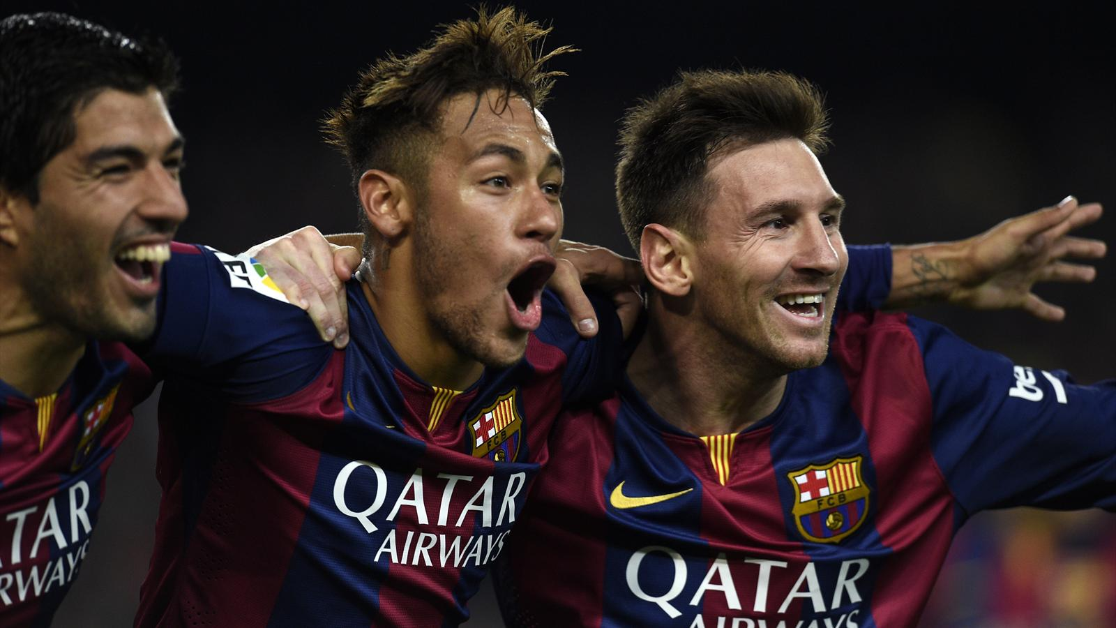 Luis Suarez, Neymar and Lionel Messi (Getty)