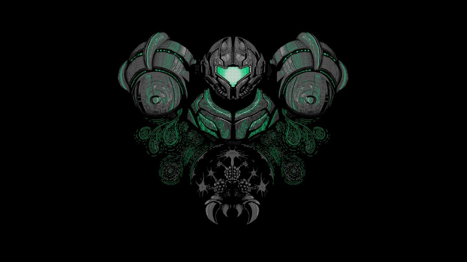 Metroid stylized wallpaper