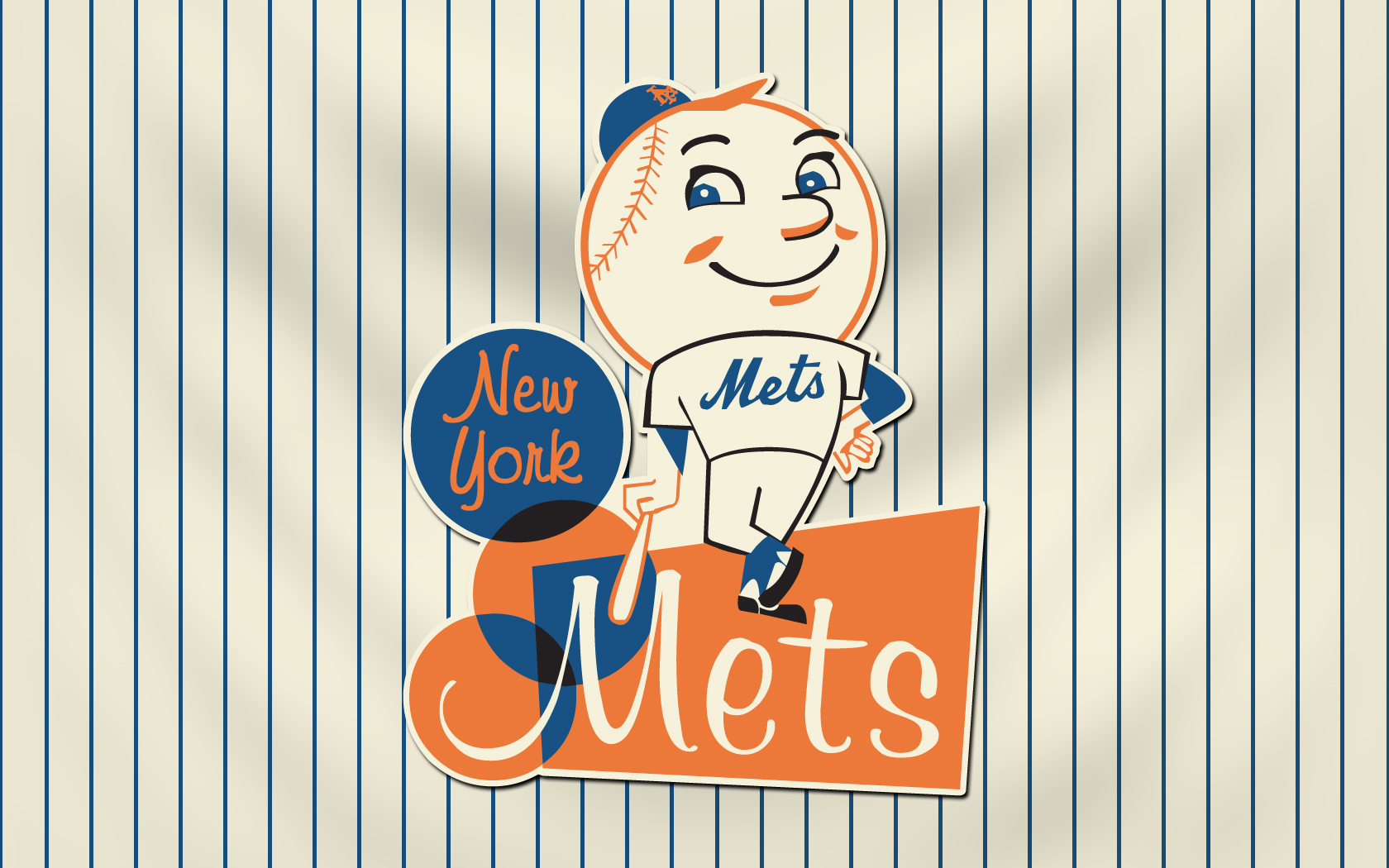 Retro Mets Wallpaper