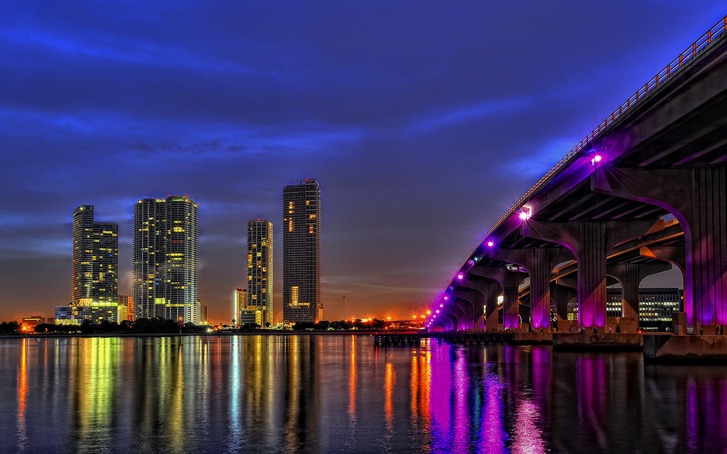Miami Lights 1440x900 wallpaper