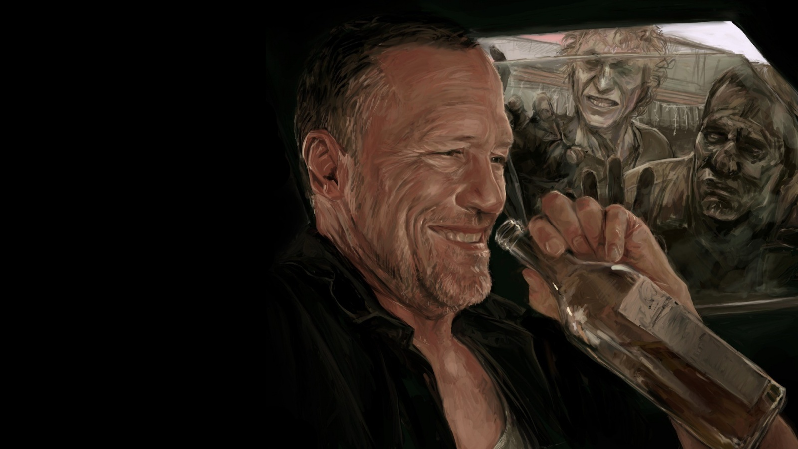 Michael rooker zombies art