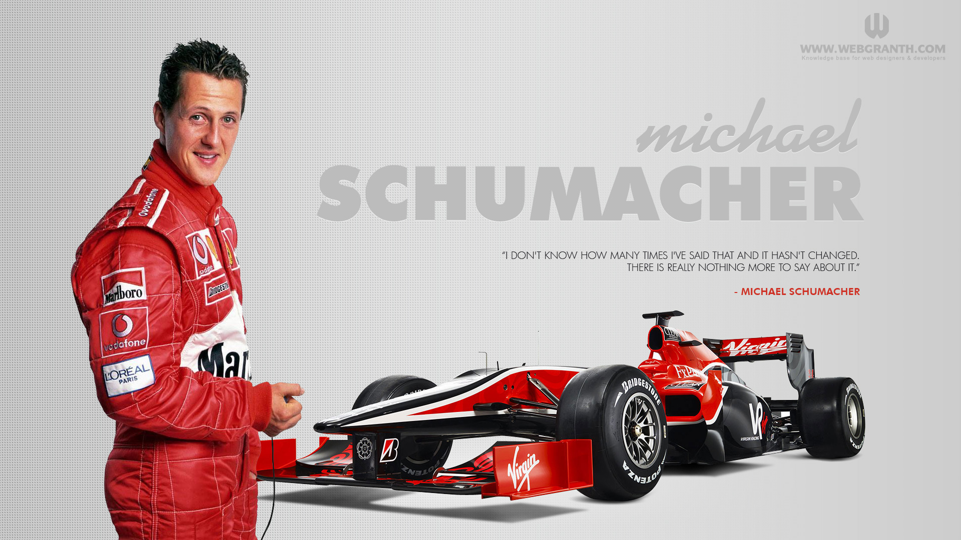 ... Michael Schumacher ...