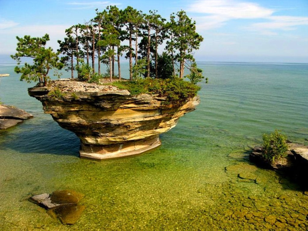 Turnip Rock, Port Austin, Michigan