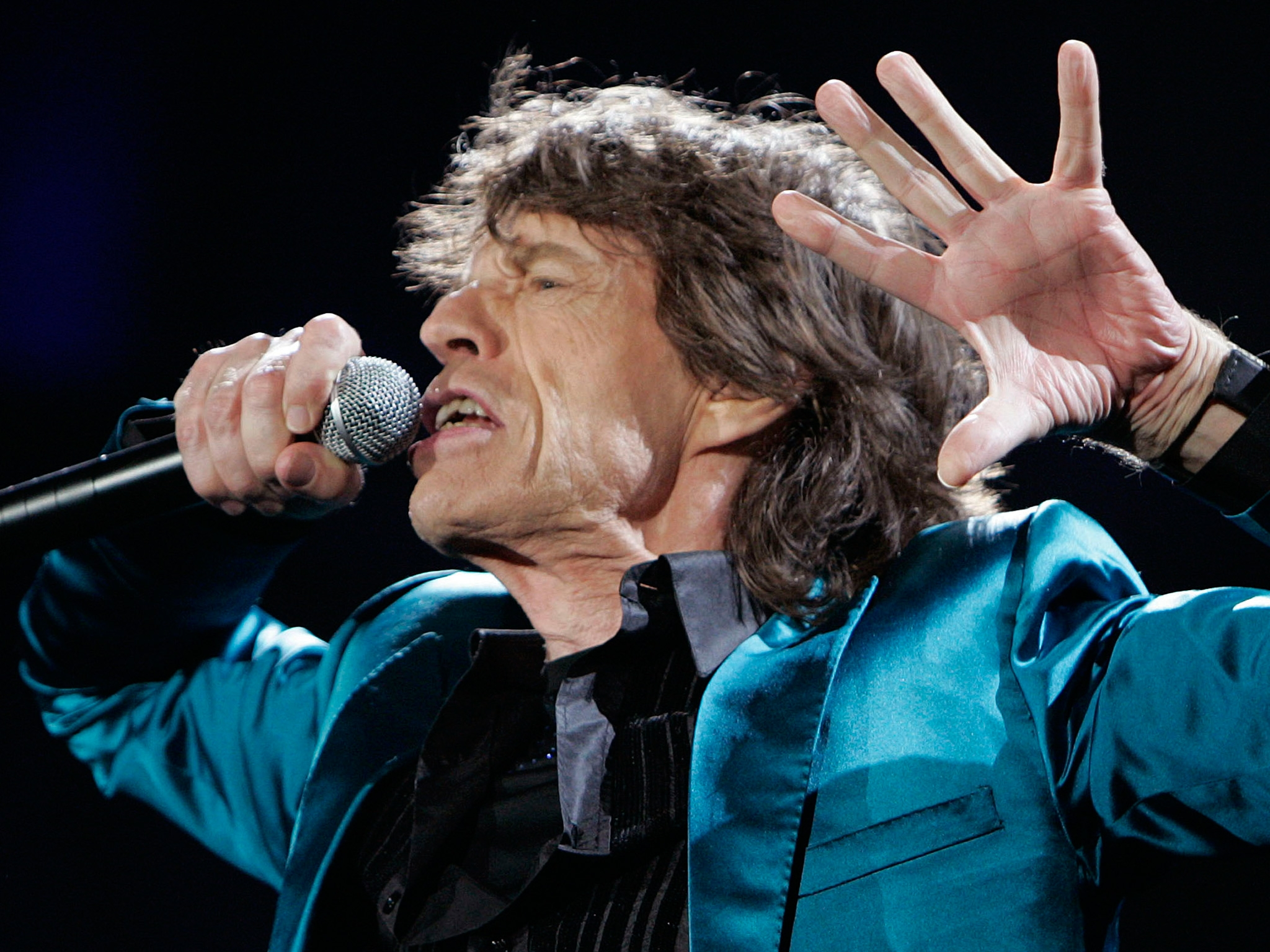 Mick Jagger of the Rolling Stones is shown. (AP Photo)