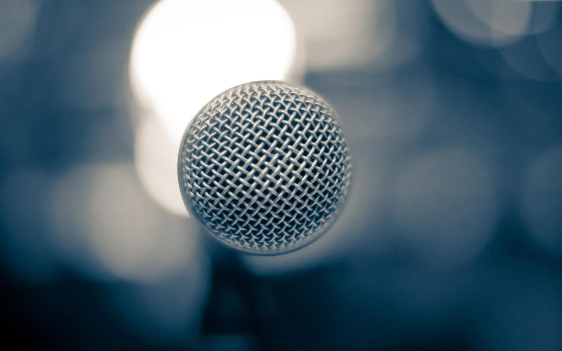 Microphone Music Bokeh Photo