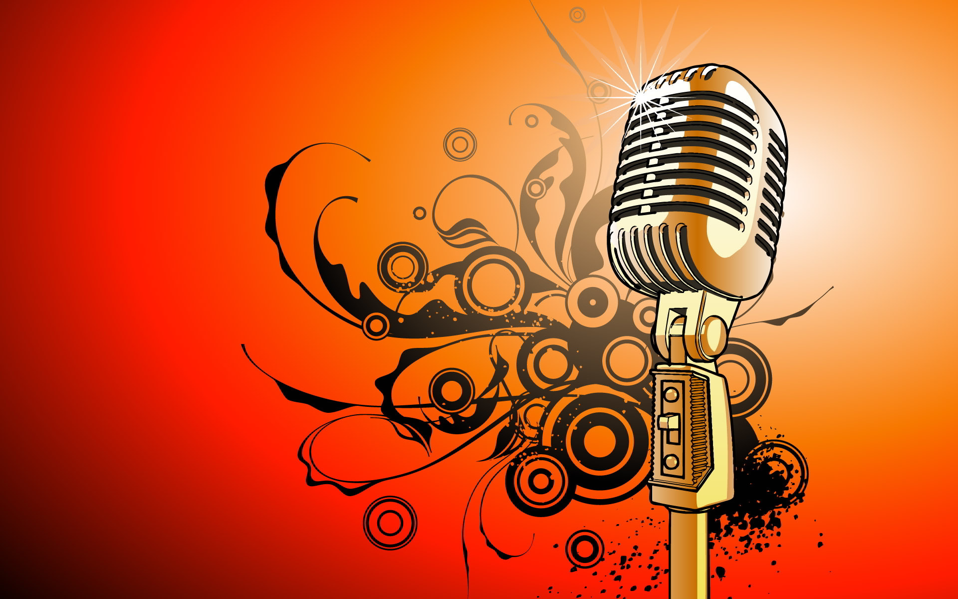 Microphone vector art