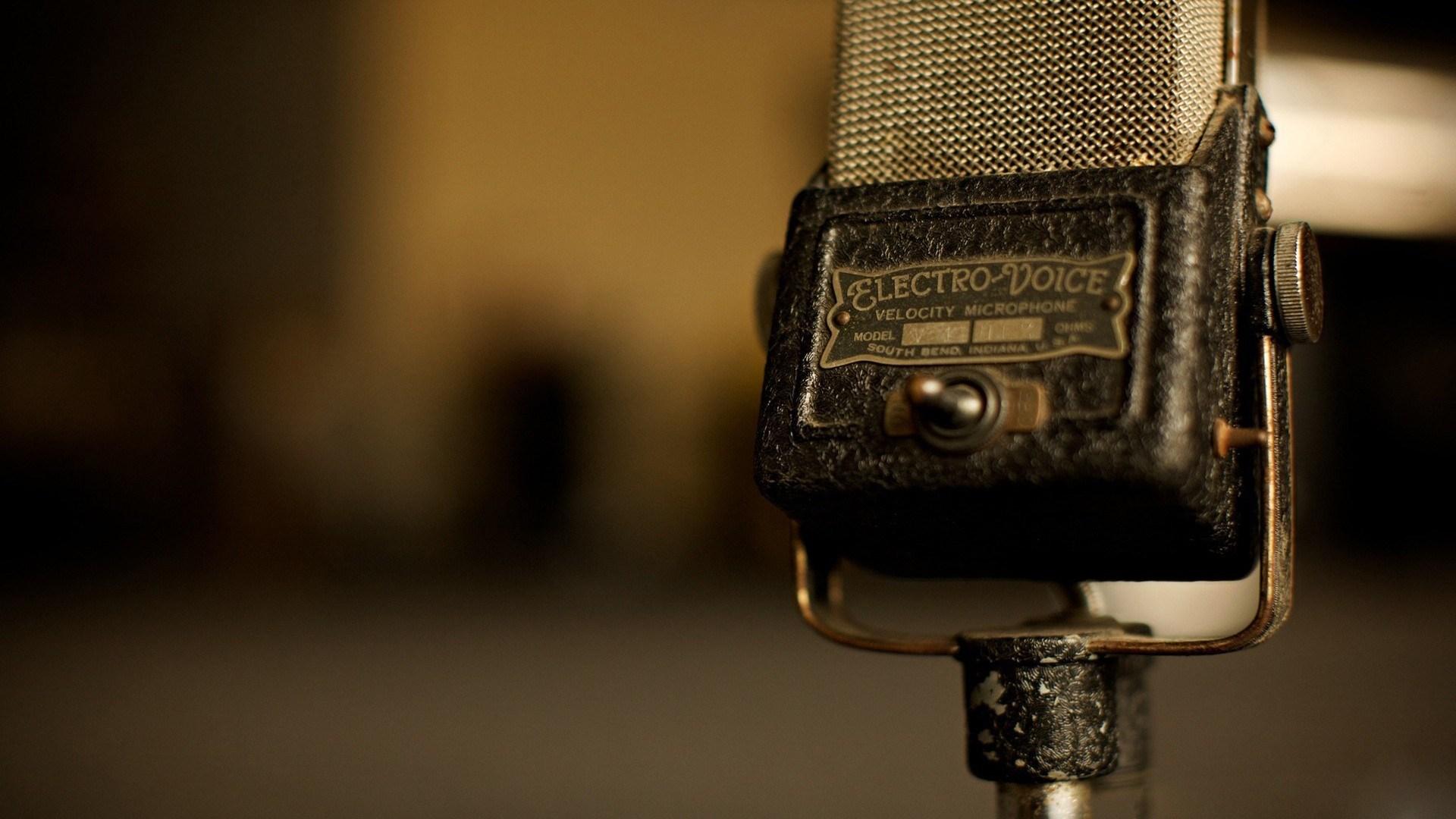 Microphone Vintage Old Music