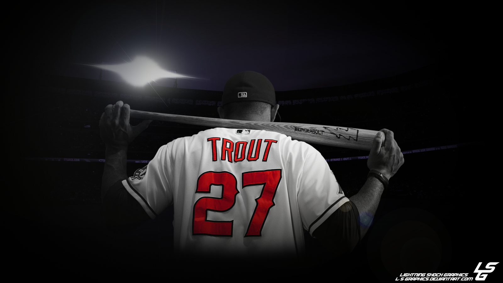Mike Trout Desktop Wallpaper by L-S-Graphics