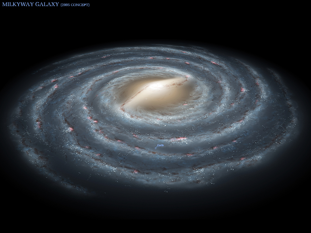 An outside view of our Milky Way Galaxy (artists concept)