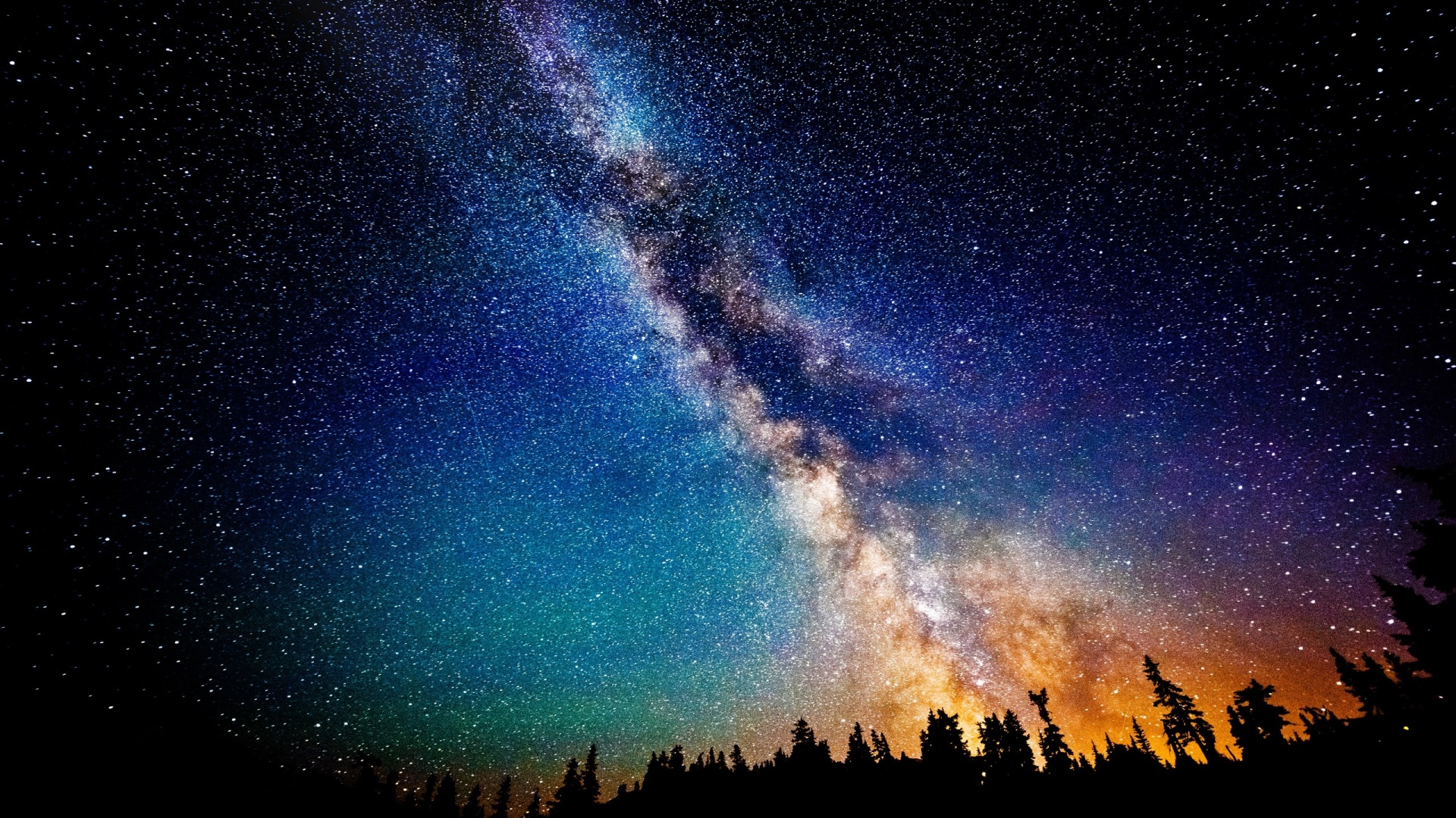1920x1080 The Milky Way at Night