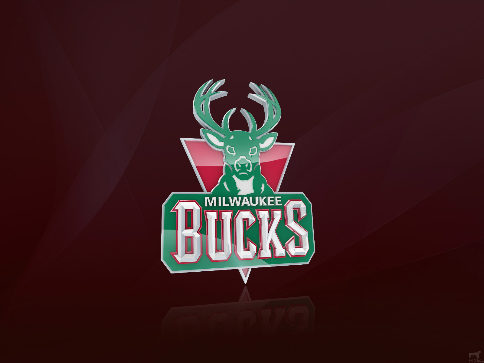 Milwaukee Bucks D Logo Desktop Wallpaper