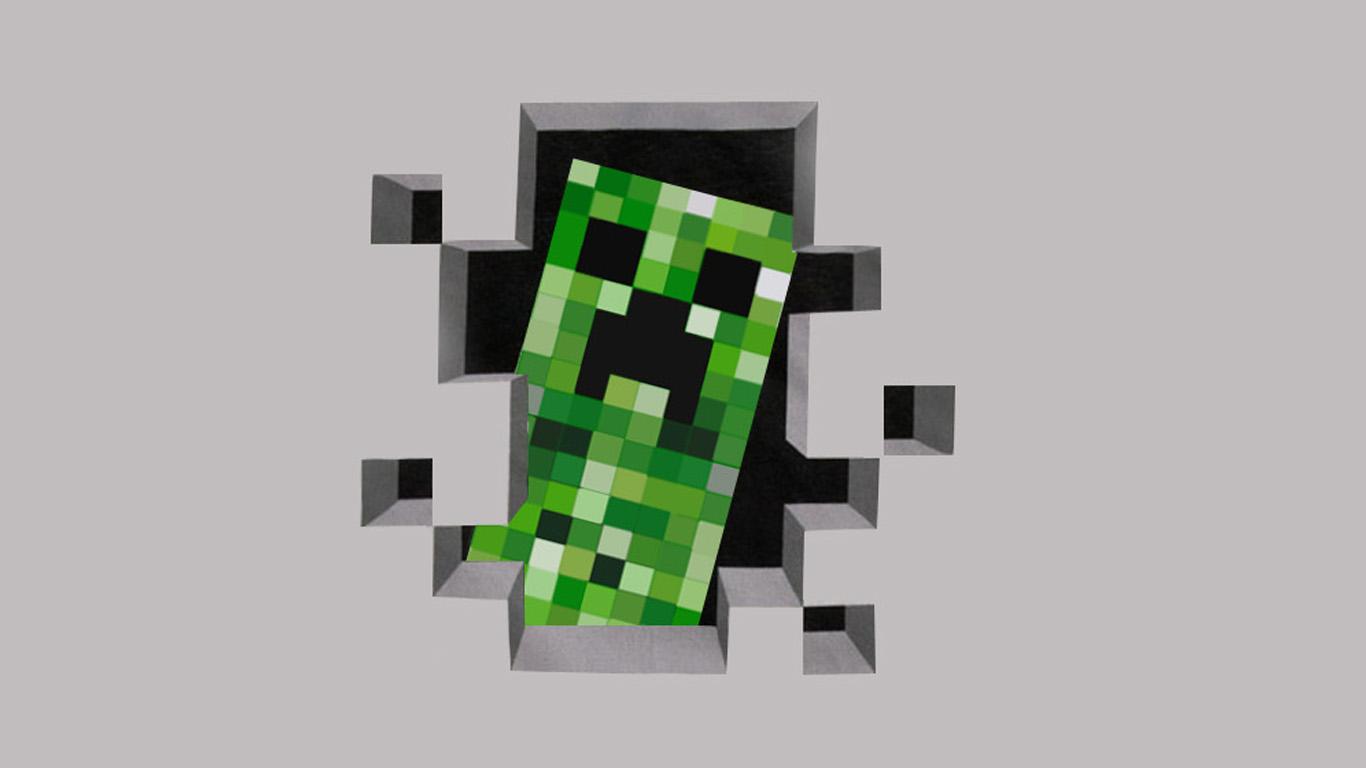 HD Wallpaper of Creeper Minecraft By Iodollarbagel On Deviantart, Desktop Wallpaper Creeper Minecraft By Iodollarbagel