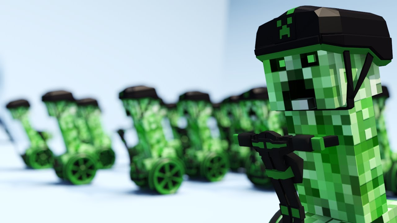 Segway Creeper Stunts - Minecraft Animation