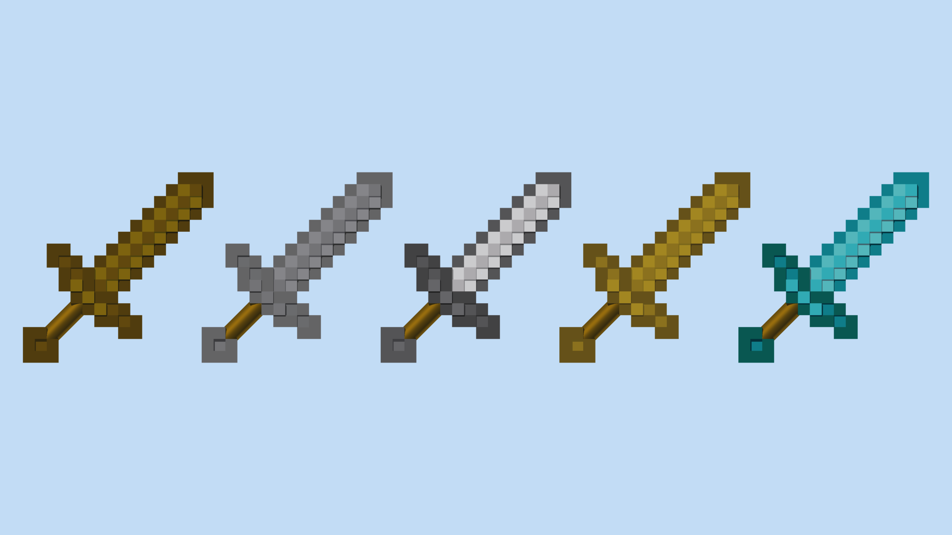 LEGO Minecraft Swords by mingles