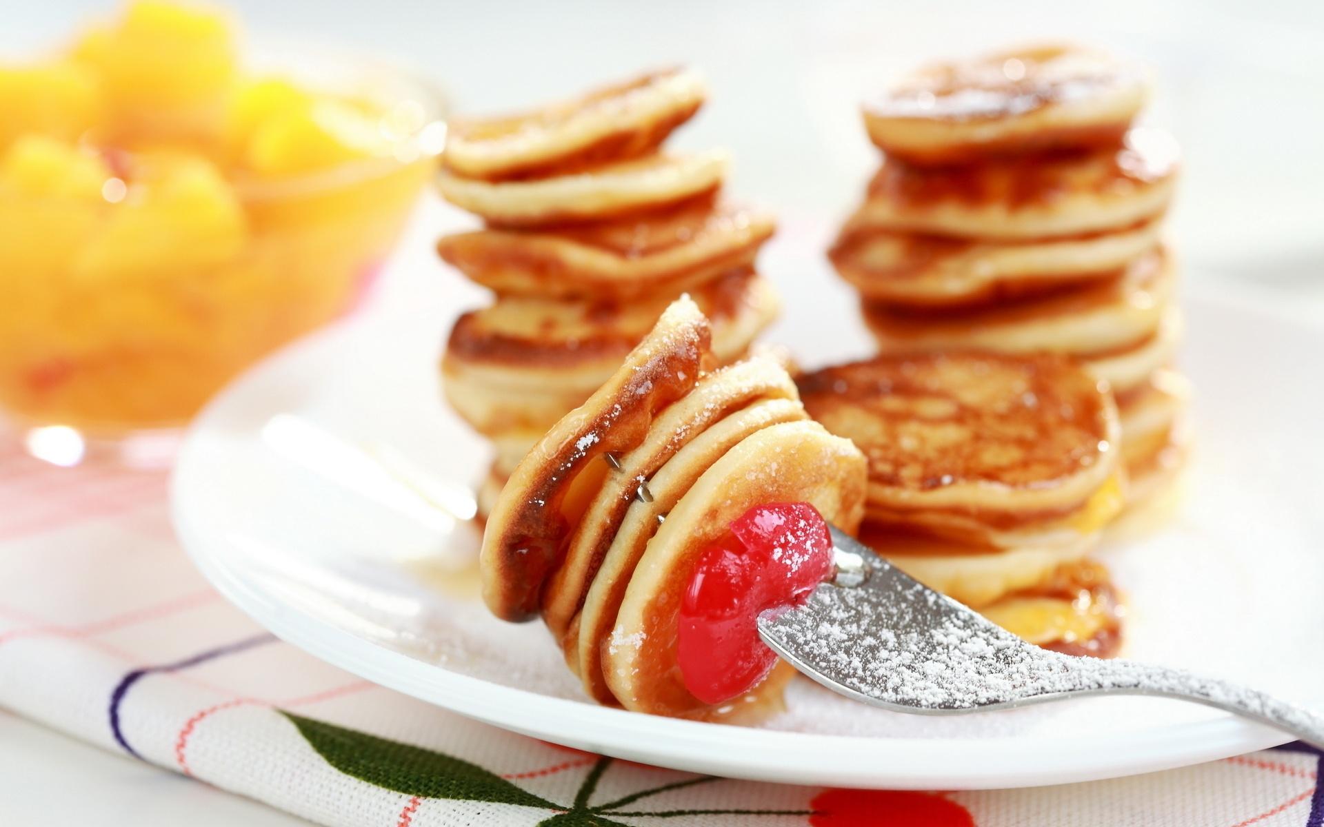 Mini Pancakes Wallpaper