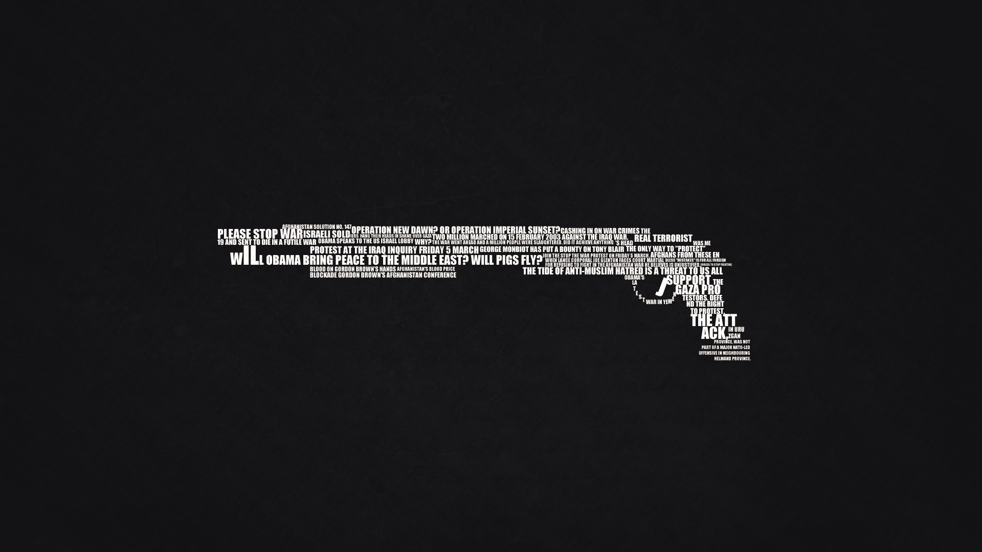Words - Weapons - Minimalism
