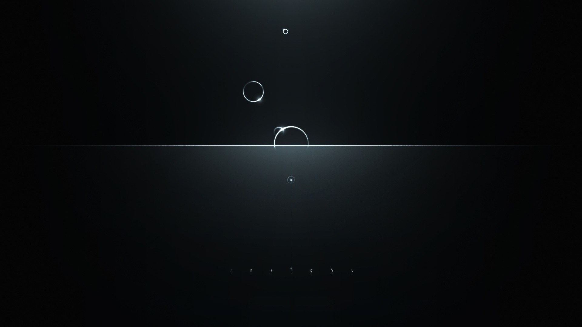 Preview wallpaper minimalism, circles, reflections, light, dark, intuition 1920x1080
