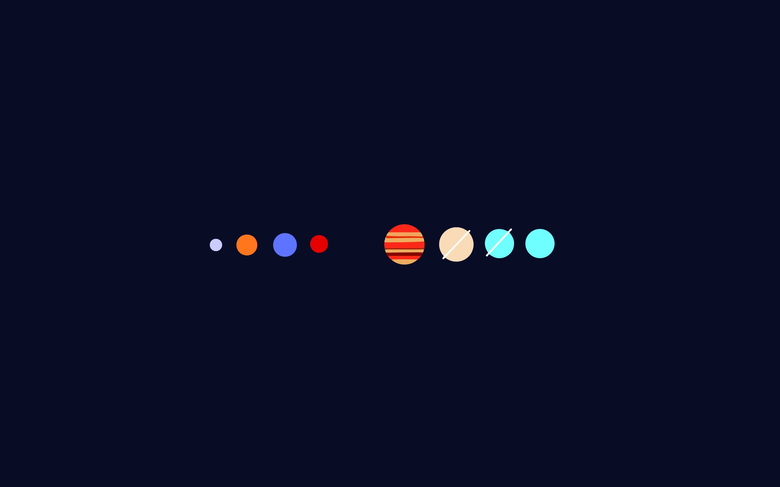 The Solar system [2560x1600] ...