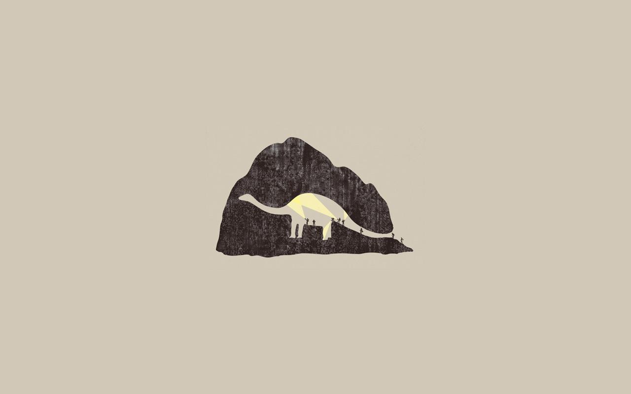 Minimalistic dinosaur