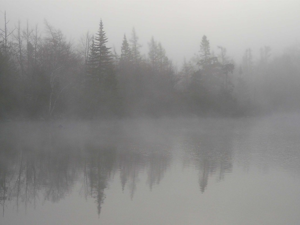 Mist over Lewis Lake – P1300656 – 12-05-2012 – Jerry Lawrence Provincial Park, HRM, Nova Scotia – Little Indian Lake, HRM, Nova Scotia