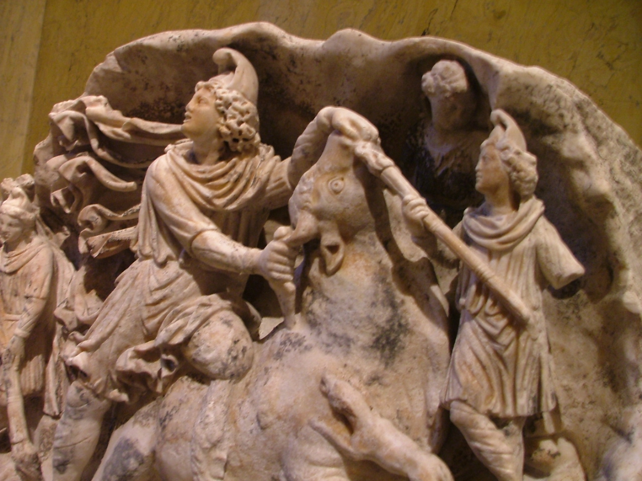 Mithras relief at the Kunsthistorishes Museum, Vienna (Click to enlarge)