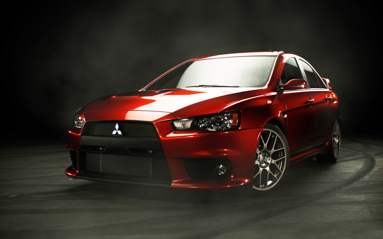 Mitsubishi lancer evolution x red