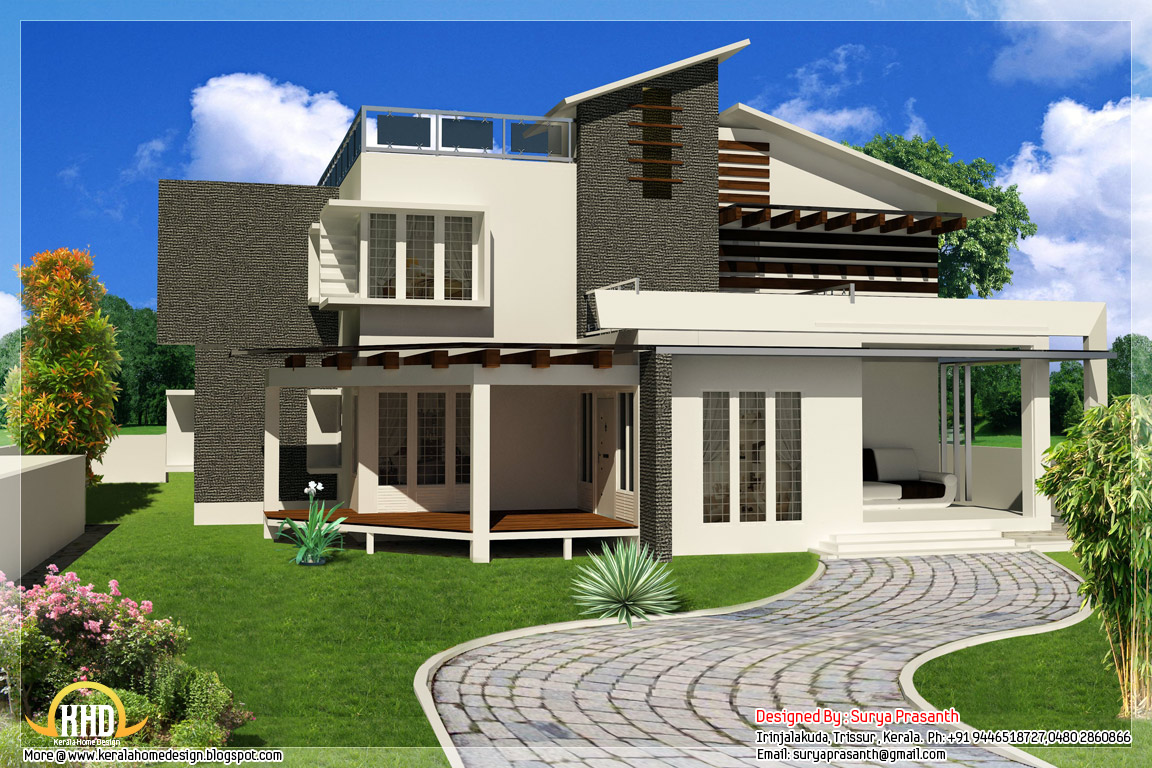 Modern house design wallpaper 1152x768 15122 for Modern style decor