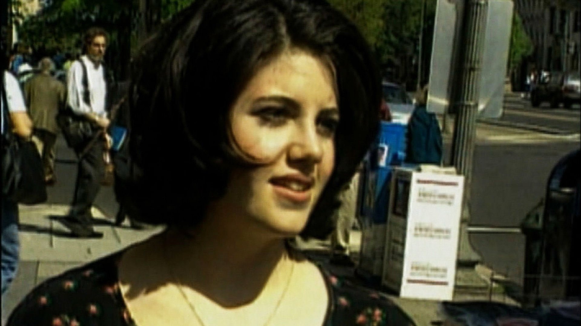 Monica Lewinsky walks along a Washington, D.C. street in this undated photo. (Credit: CNN)