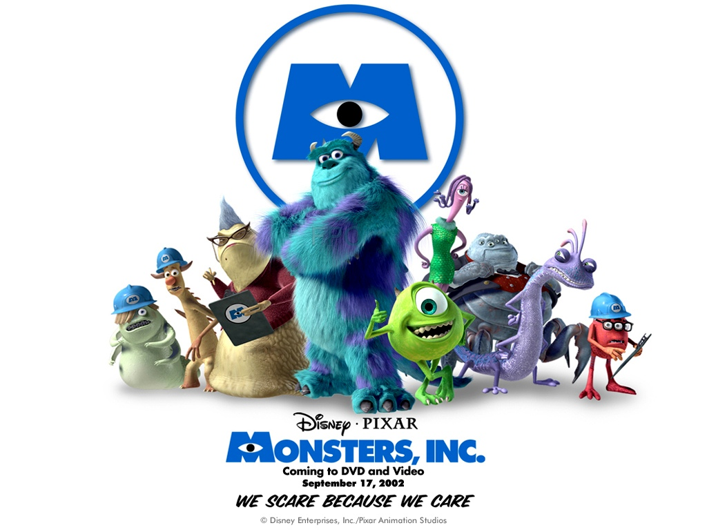"""Monsters, Inc."" desktop wallpaper number 1 (1024 x 768 pixels)"