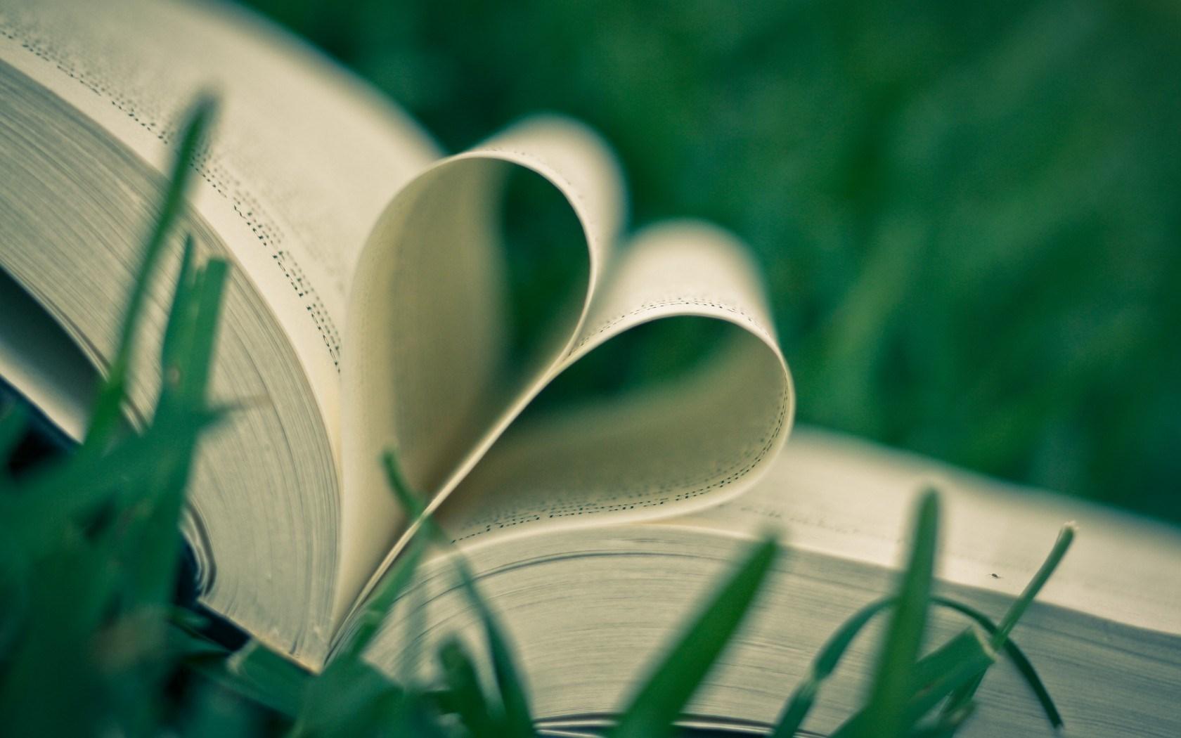 Mood Book Heart Grass
