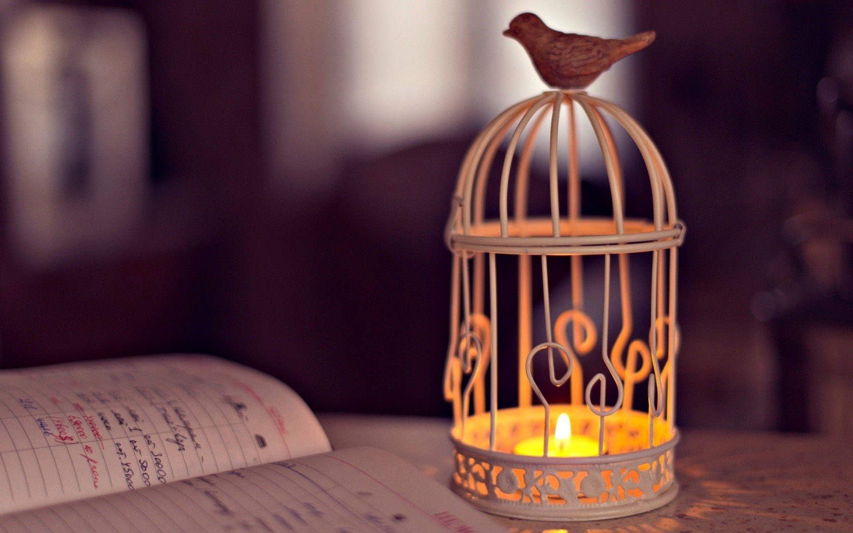 Mood Cell Lantern Bird Candle Light Notebook