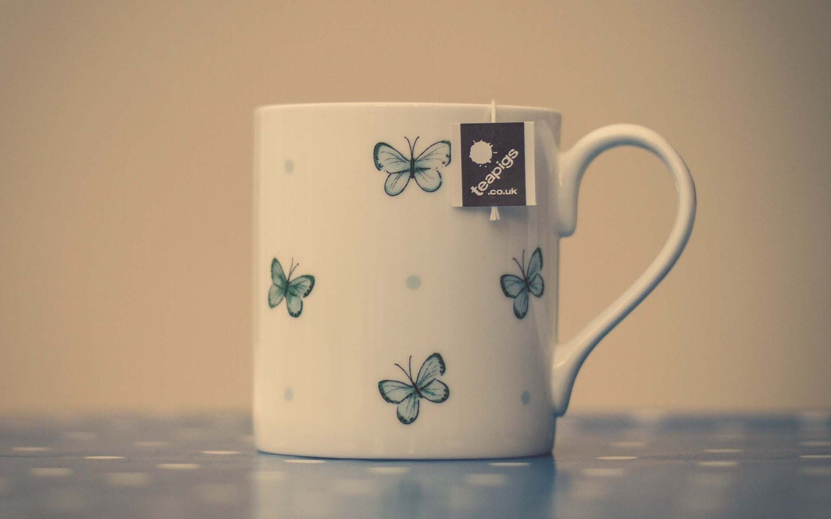 Mood Cup Tea Butterflies Drawing Photo