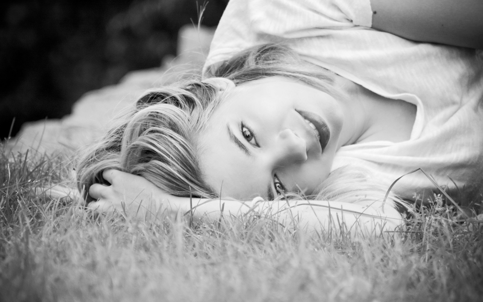Mood Girl Black and White Photo