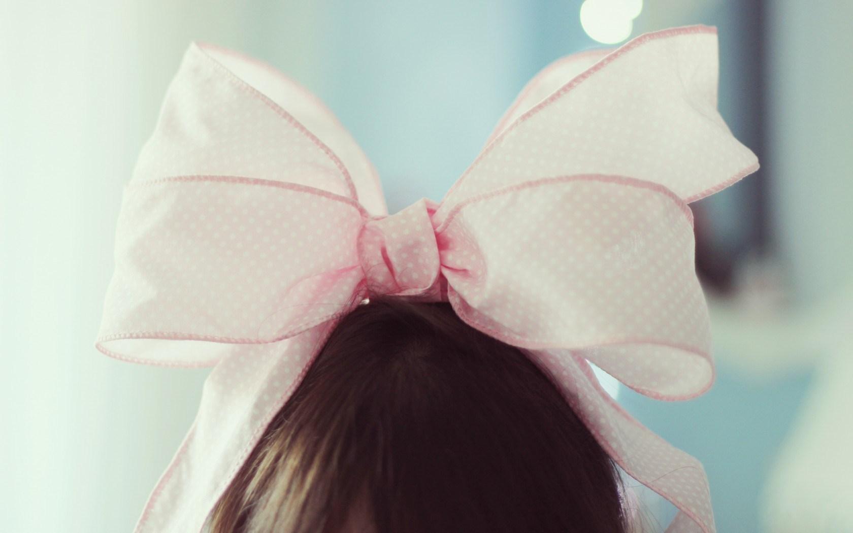 Mood Girl Bow Pink Photo