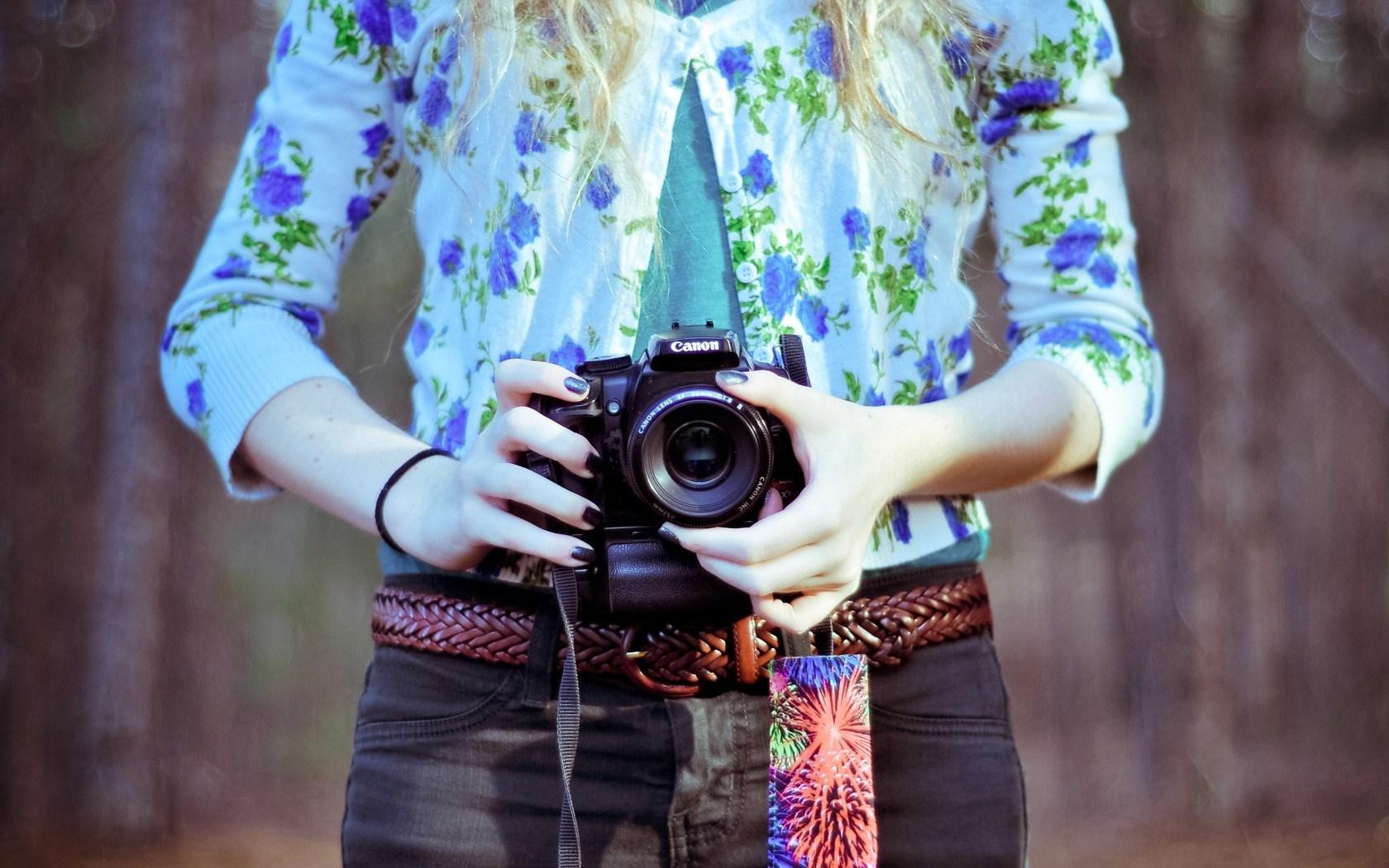 Mood Girl Camera Canon