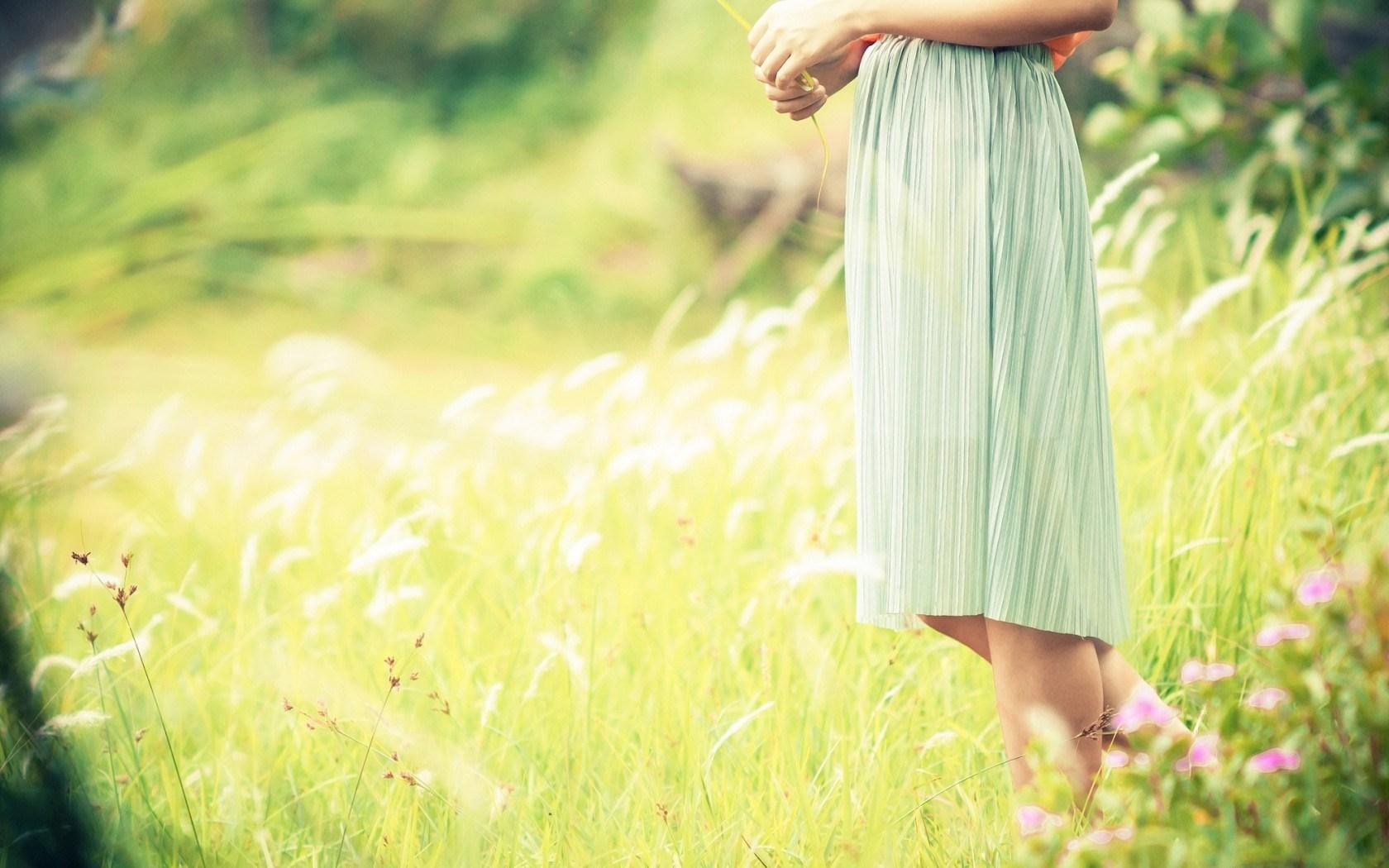 Mood Girl Dress Field Flowers
