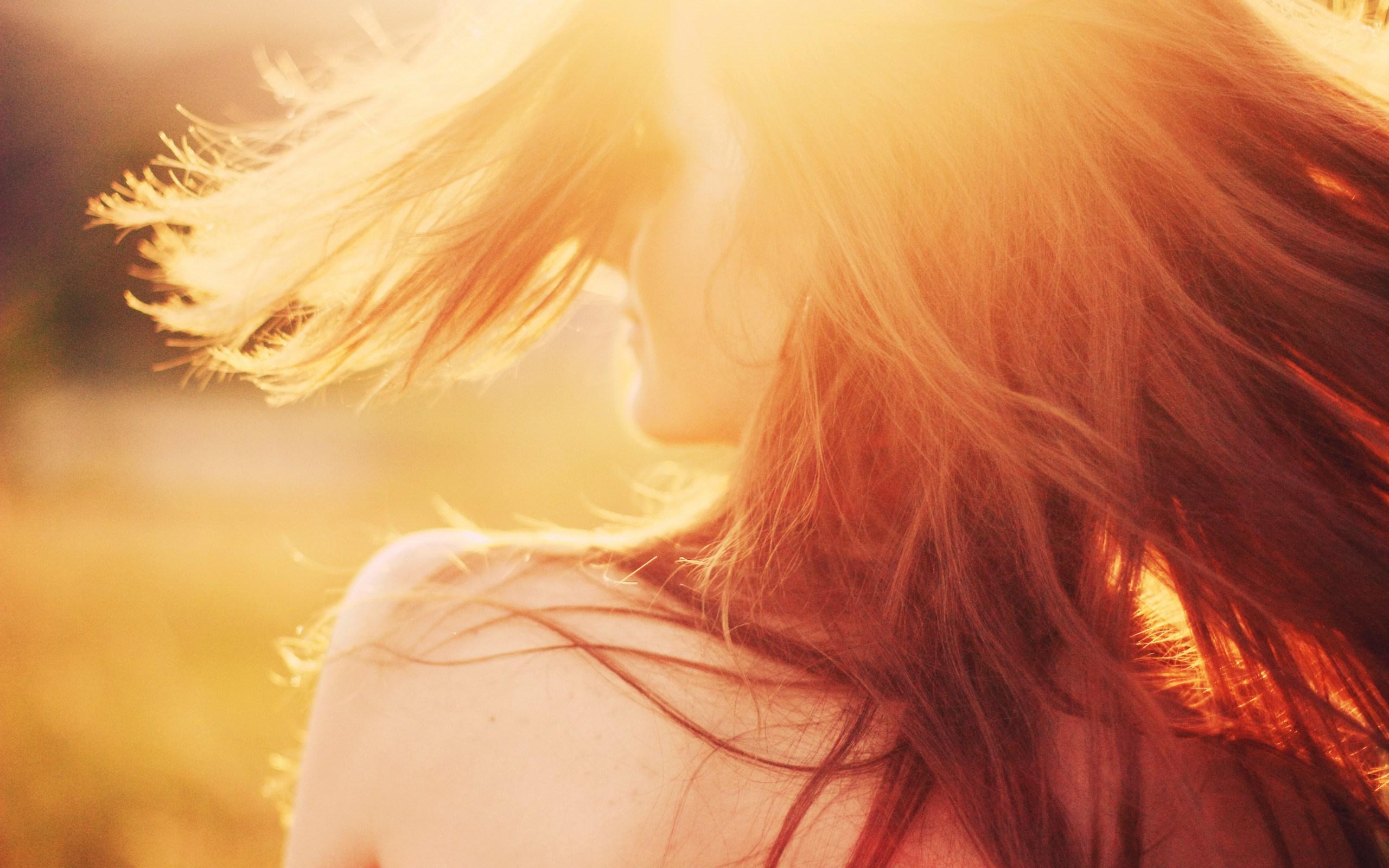 Mood Girl Sun Rays